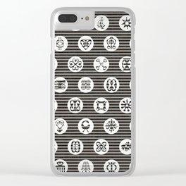 Adinkra Tribal symbols Clear iPhone Case