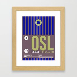 OSL Oslo Luggage Tag 2 Framed Art Print