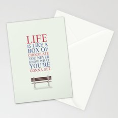 Lab No. 4 - Forrest Gump Movies Inspirational Quotes Poster Stationery Cards