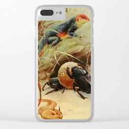 Kuhnert, Friedrich Wilhelm (1865-1926) - Wild Life of the World 1916 v.3 (Agama, Horned Viper, Clear iPhone Case