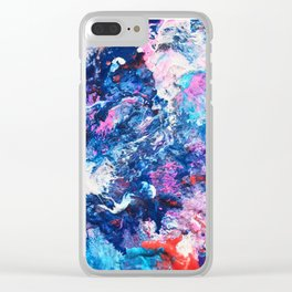 Galactic Meltdown Clear iPhone Case