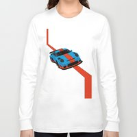 porsche Long Sleeve T-shirts featuring Gulf Porsche by SABIRO DESIGN