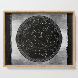 Antique Map of the Night Sky Serving Tray