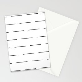 Block Print Lines in Black and White Stationery Cards