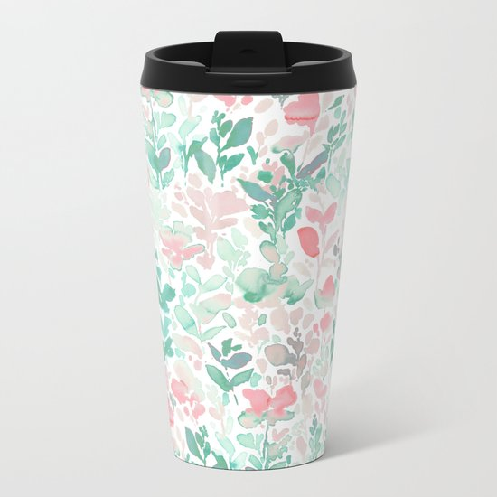 Flirt Mint Blush Metal Travel Mug