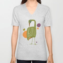 Quirky Brolga Unisex V-Neck