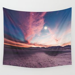 Moon gazing Wall Tapestry