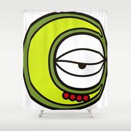 Moon Goddess with Coffee Leaf Eye-lash [Spa Ixchel] Shower Curtain