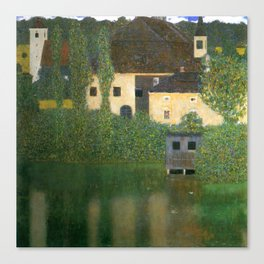 "Gustav Klimt ""Schloss Kammer on Lake Attersee I"" Canvas Print"