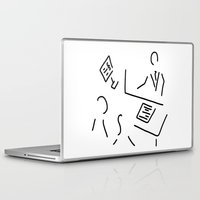 lawyer Laptop & iPad Skins featuring tax adviser lawyer tax office by Lineamentum