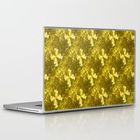 bows Laptop & iPad Skins featuring Golden Bows  by Elena Indolfi