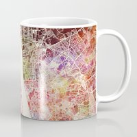 liverpool Mugs featuring Liverpool by MapMapMaps.Watercolors
