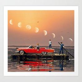 Car Over Water Art Print