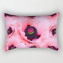 PINK POPPIES COLLAGE Rectangular Pillow