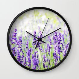 Field of Lavender 01 Wall Clock
