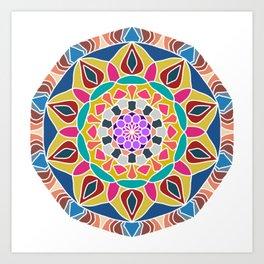 Mandala core Art Print