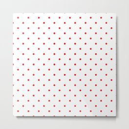 Small Red Polka Dots Metal Print