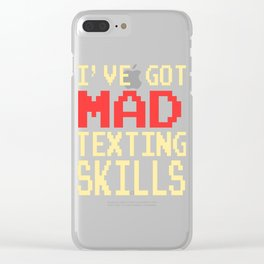 Funny Do You Have The Skills To Survive? People T-Shirt Gift Clear iPhone Case