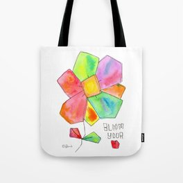 """""""Bloom Your LOVE"""" Original Watercolor Painting by Lenna Arty Tote Bag"""