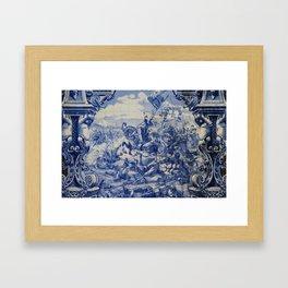 Portuguese traditional tile artwork Framed Art Print