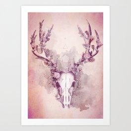 Woodland Stag Art Print