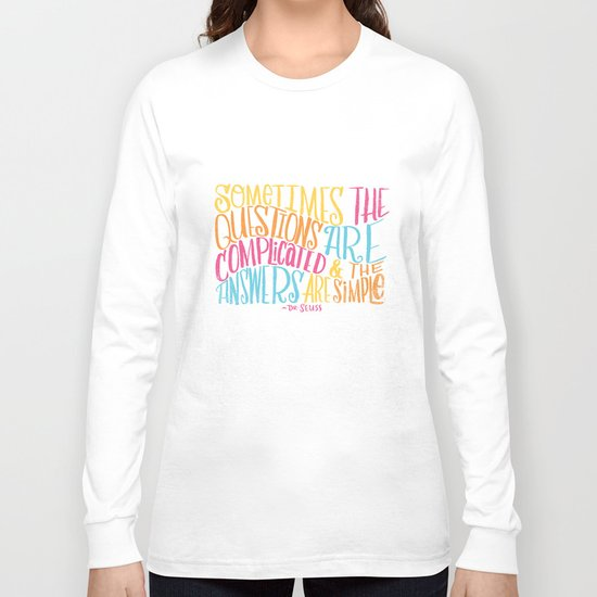 SIMPLE ANSWERS Long Sleeve T-shirt