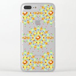 Bijoux Mandala Sunburst Clear iPhone Case