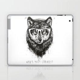 Who's your granny? (b&w) Laptop & iPad Skin
