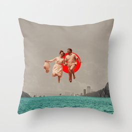 Don't Look Back Throw Pillow