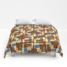 Blue Earth Patch Pattern Comforters
