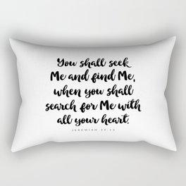 Jeremiah 29:13 - Bible Verse Rectangular Pillow