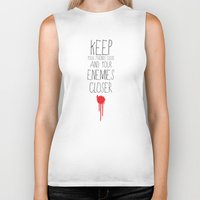 godfather Biker Tanks featuring GODFATHER QUOTE by Bianca Lopomo