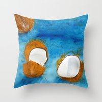 coco Throw Pillows featuring Coco by Cro_Ki