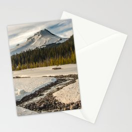 Marvelous Mount Hood at sunset Stationery Cards