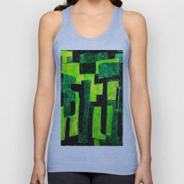 Three Green Puzzle Unisex Tank Top