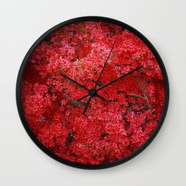 Charming Red Flower Wall Clock
