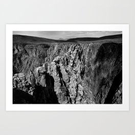 Cross Fissures Art Print