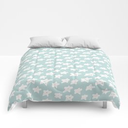 Stars on mint background Comforters