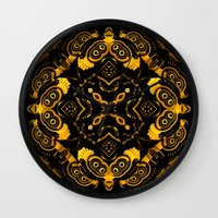 asia Wall Clocks featuring Asia by Lyle Hatch