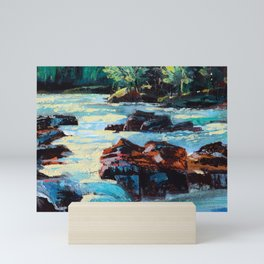 Toby Waters creek painting by Dennis Weber / ShreddyStudio Mini Art Print