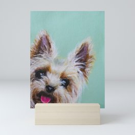 Peek-A-Boo Yorkie Mini Art Print