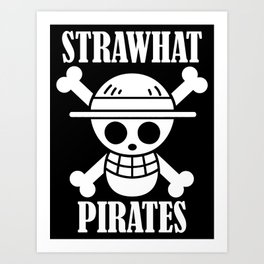 straw hat pirates Art Print