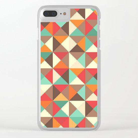 Triangle landscape Clear iPhone Case
