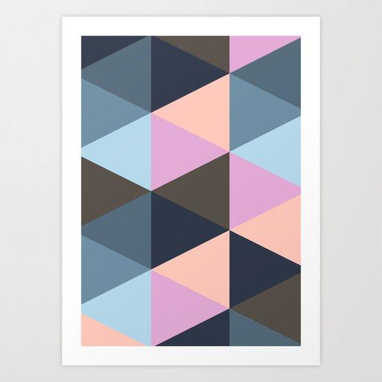 Triangle Meltdown Art Print