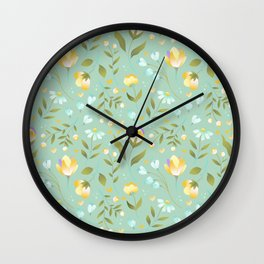 Colourscape Summer Floral Pattern Nebula Wall Clock
