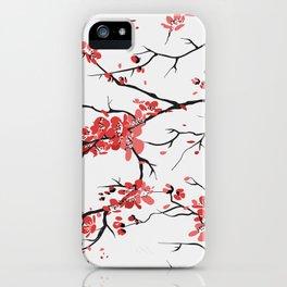 sakura pattern background iPhone Case