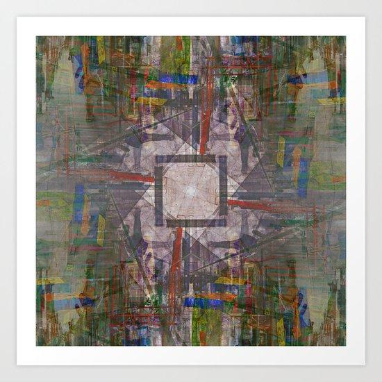 Monday 8 April 2013: to invite or imitate motion, yank turn mangle hide Art Print