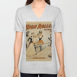 Vintage poster - The High Rollers Extravaganza Unisex V-Neck