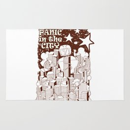 Panic in the city Rug