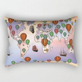 map of world hot balloon Rectangular Pillow